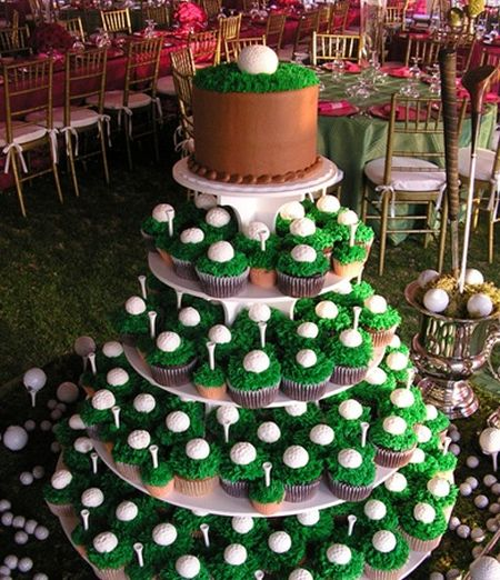 Cupcake Golf Themed Wedding Favors