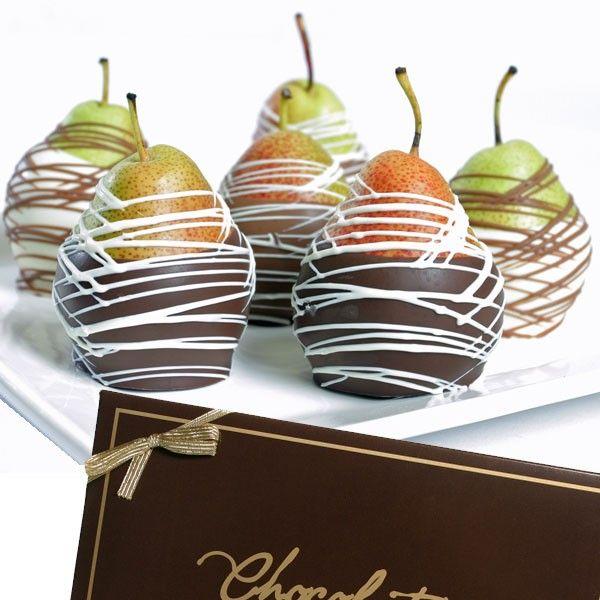 Pears Dipped In Gourmet Chocolate
