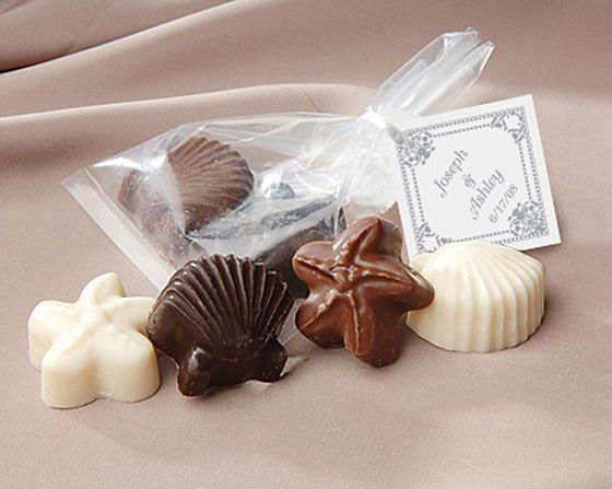 Shaped Gourmet Chocolate Wedding Favors