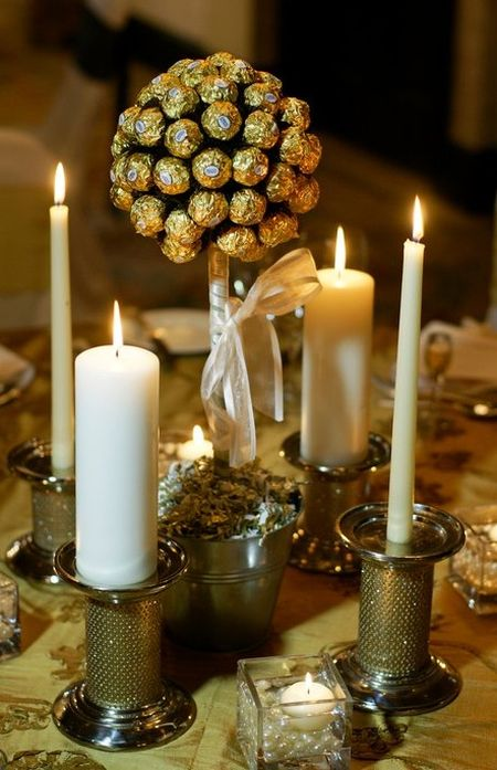 Gourmet Chocolate Candy Wedding Favor Idea