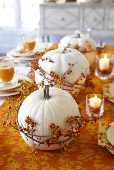 White Pumpkin Halloween Decoration Ideas