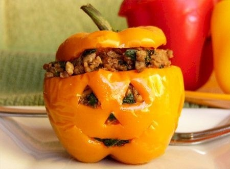 Pepper-O-Lantern Halloween Party Food