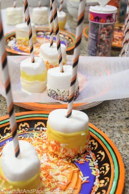 Marshmallow Halloween Snacks
