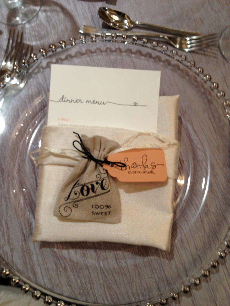 Handmade Chocolate Wedding Favor Burlap Idea
