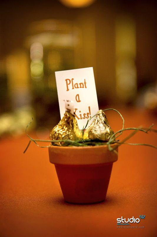 Garden Themed Hershey Kiss Wedding Favor
