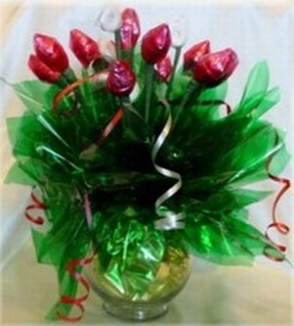 Hershey Kiss Rose Favor Centerpiece