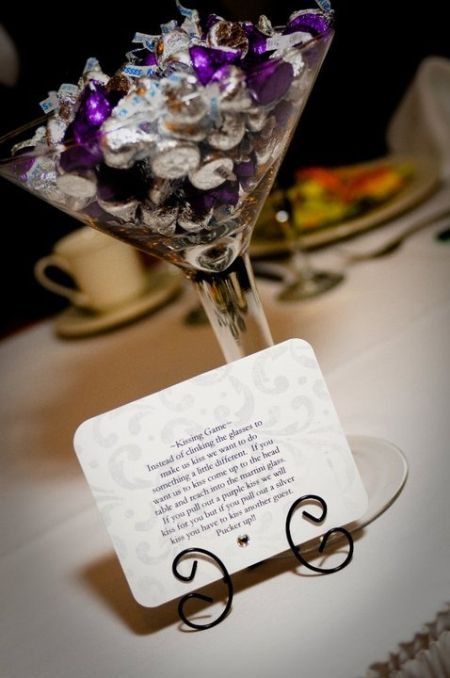 Hershey Kiss Wedding Favor Game