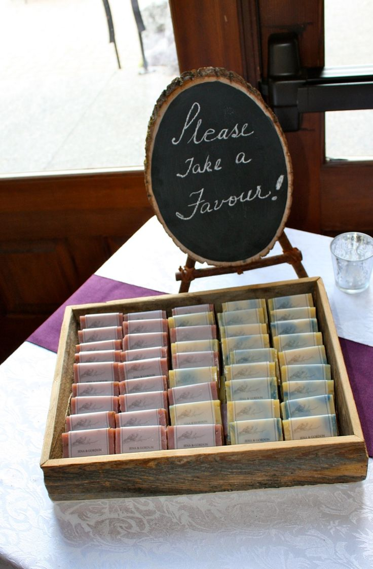 Homemade Soap Wedding Favors Presentation