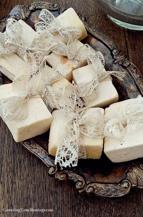 Vintage Homemade Wedding Favor Soaps