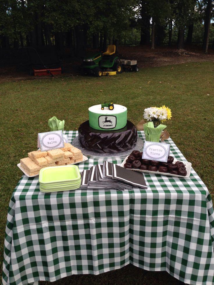 John Deere Table Decorations : John deere birthday party
