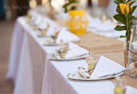 Jordan Almond Wedding Favor Table Setting