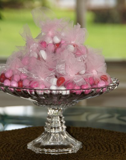 Tulle M&M Wedding Favors