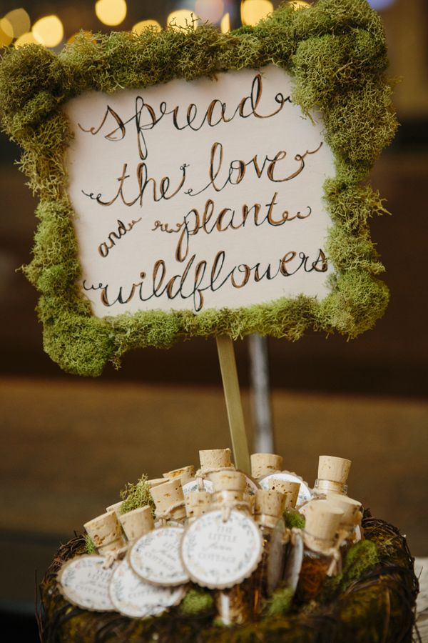 Seed Packet Wedding Favor Tubes