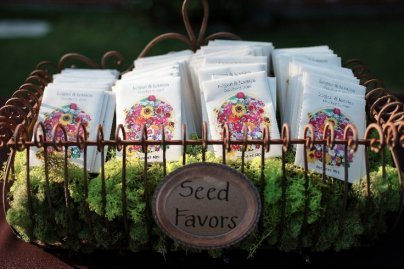wedding favor flower seeds seed packet wedding favors 9453