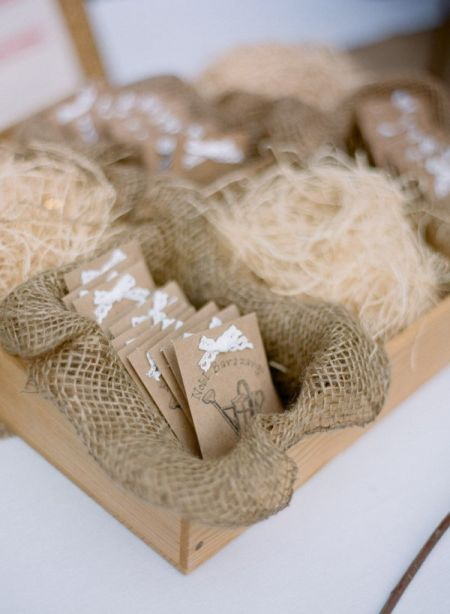 Burlap Seed Packet Wedding Favors