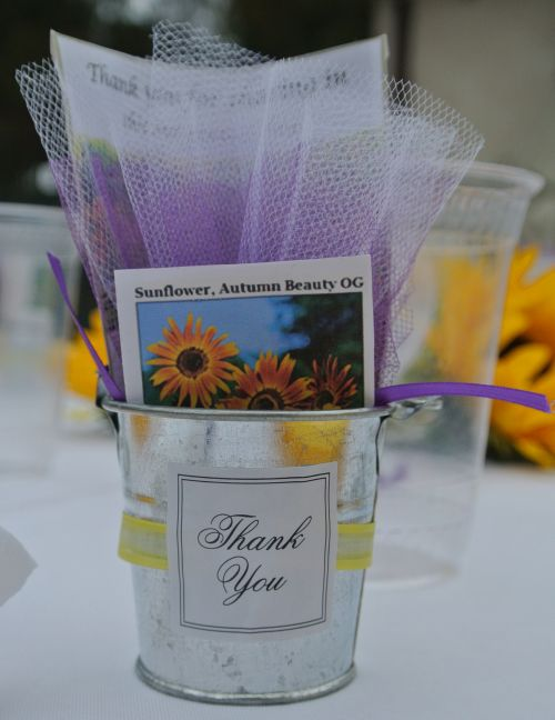 Seed Packet Wedding Favor Thank You