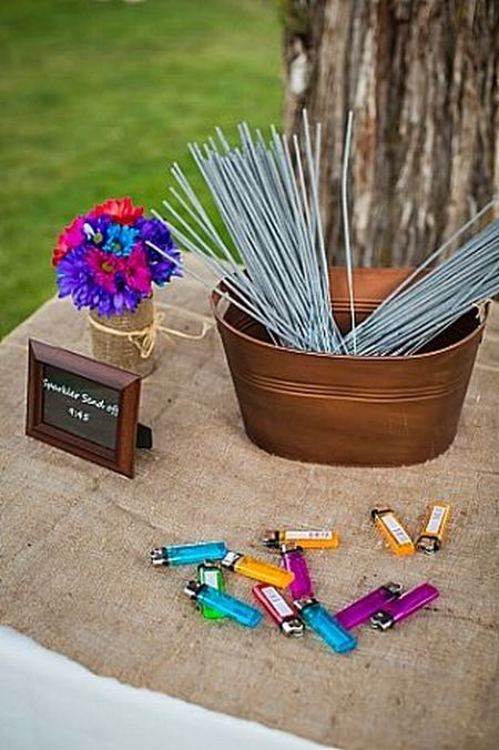 Casual Display For Wedding Sparklers
