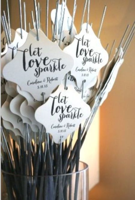 Lovely Sparklers For Weddings Display