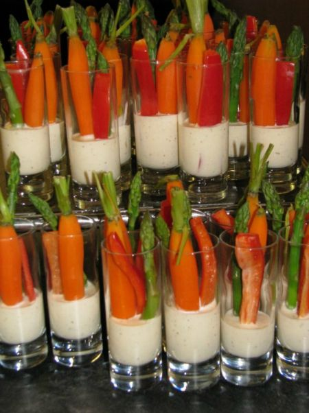 Vegetable Appetizer Shot Veggies
