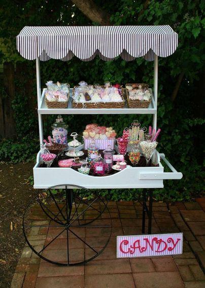 Wedding Candy Buffet Cart