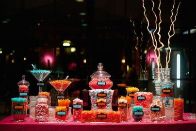 Colorful Wedding Candy Buffet