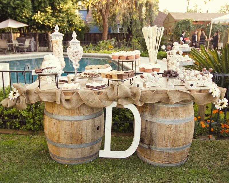 Wedding Candy Buffet Rustic