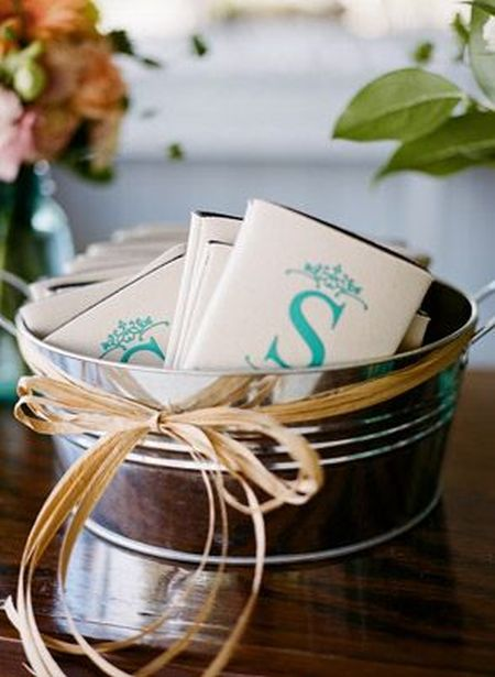 Initialed Wedding Favor Koozies