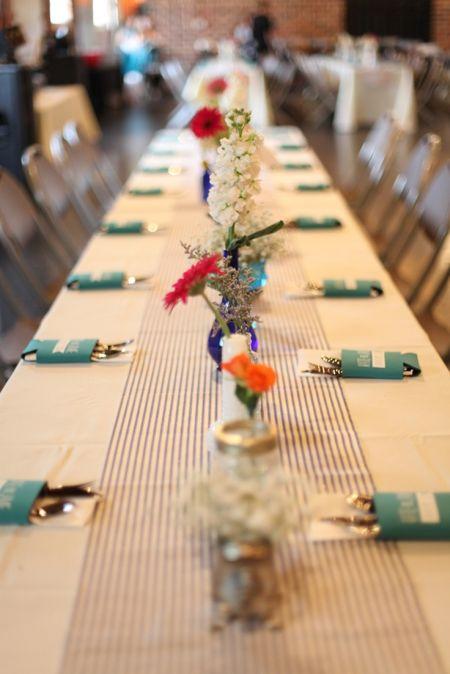 Wedding Favor Koozies Table Presentation