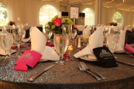 Sophisticated Wedding Favor Koozies