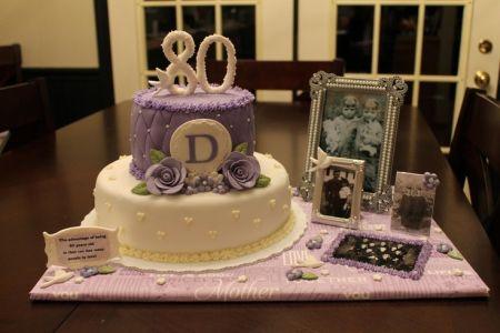 80th Birthday Cake Ideas