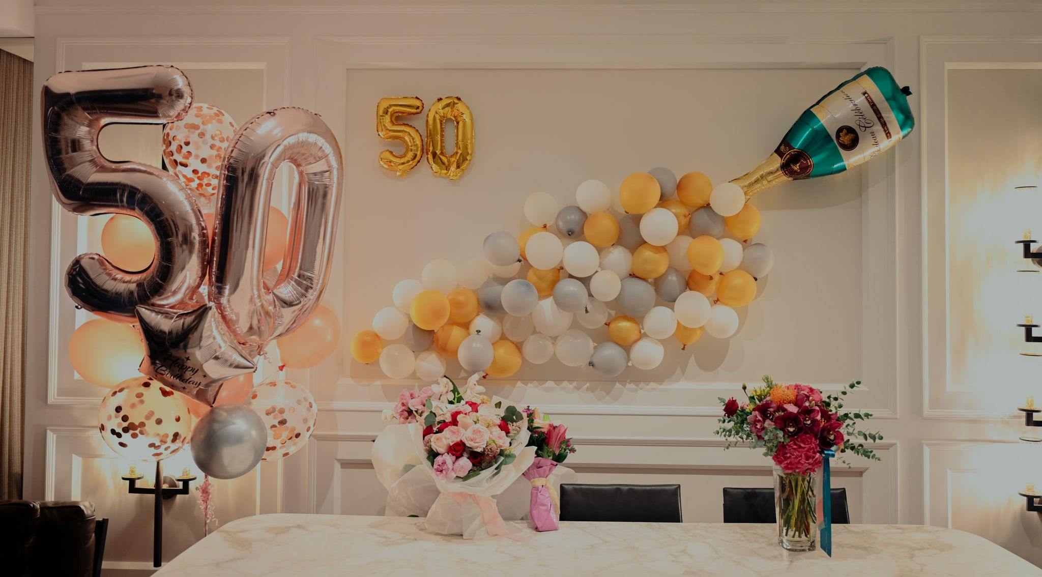 50th birthday centerpieces 50th centerpieces 50th birthday party 50th birthday decor gold 50th birthday party decorations 50th party decor