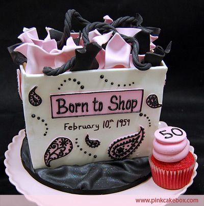 50th Birthday Cake Idea For The Shopaholic