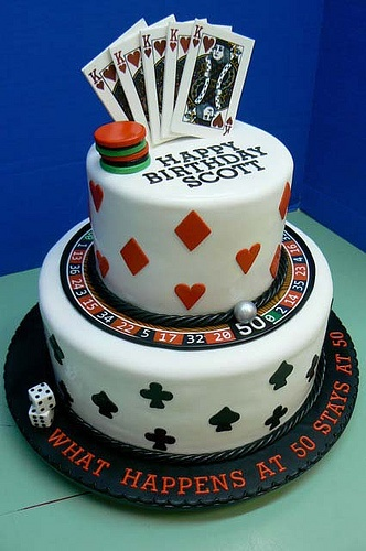 50th Birthday Cake Idea For Gambler
