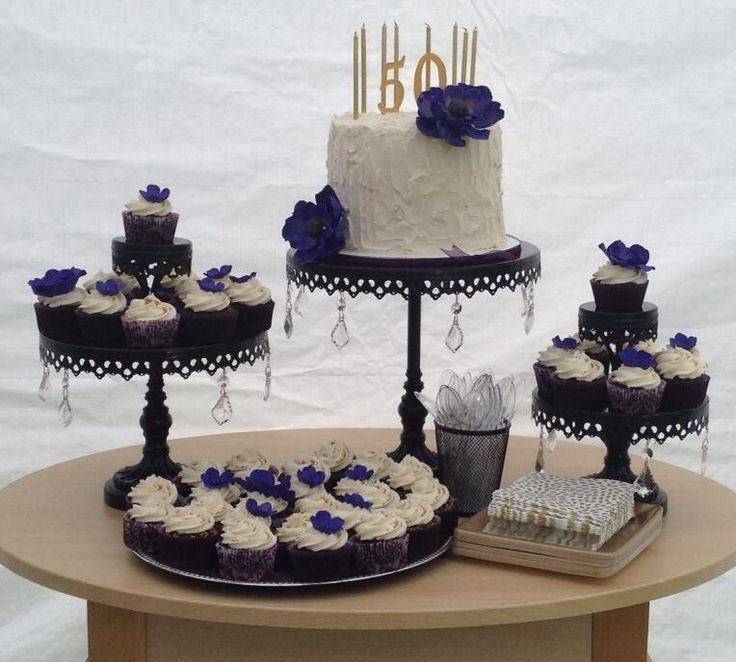 Elegant 50th Birthday Cake Idea