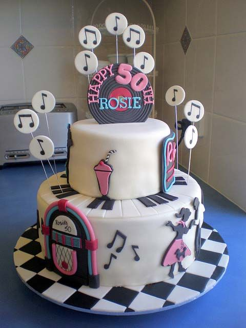 Retro 50th Birthday Cake Idea