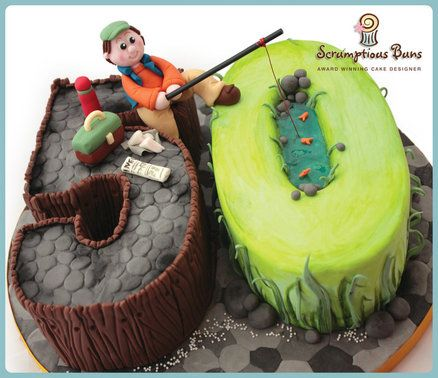 50th Birthday Cake Idea For Fisherman