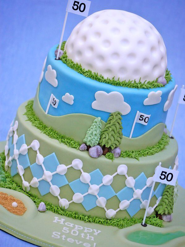 Golfing 50th Birthday Cake Idea