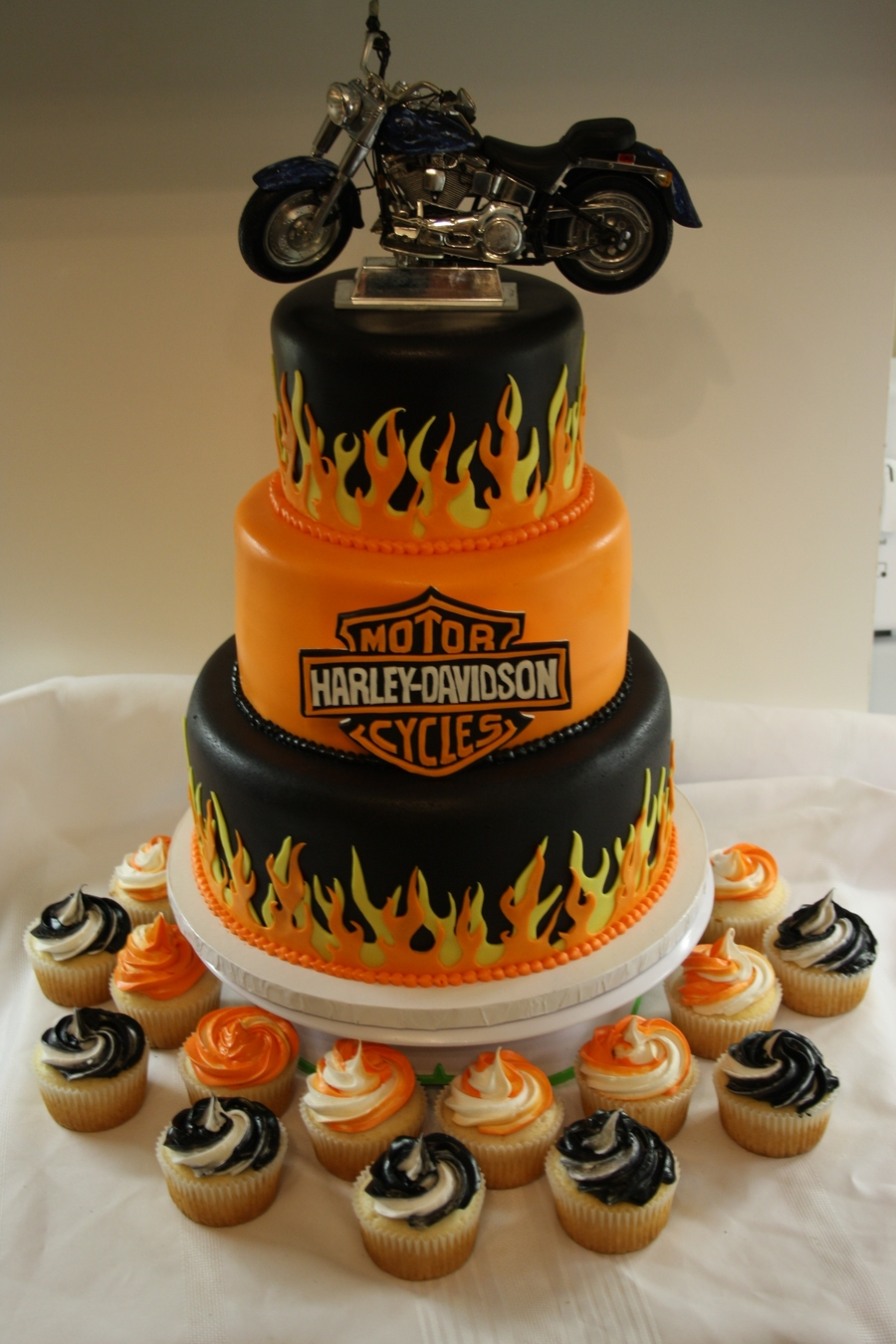 Motorcycle 50th Birthday Cake Idea