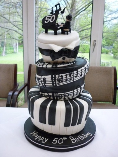 Piano 50th Birthday Cake Idea