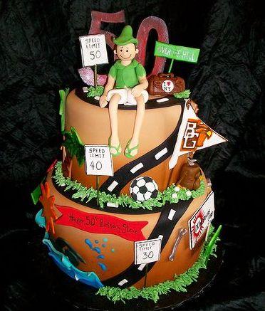 Road Of Life 50th Birthday Cake