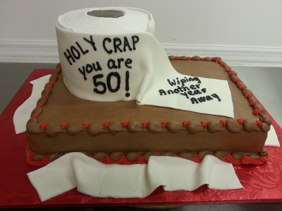 Toilet Tissue 50th Birthday Cake Idea