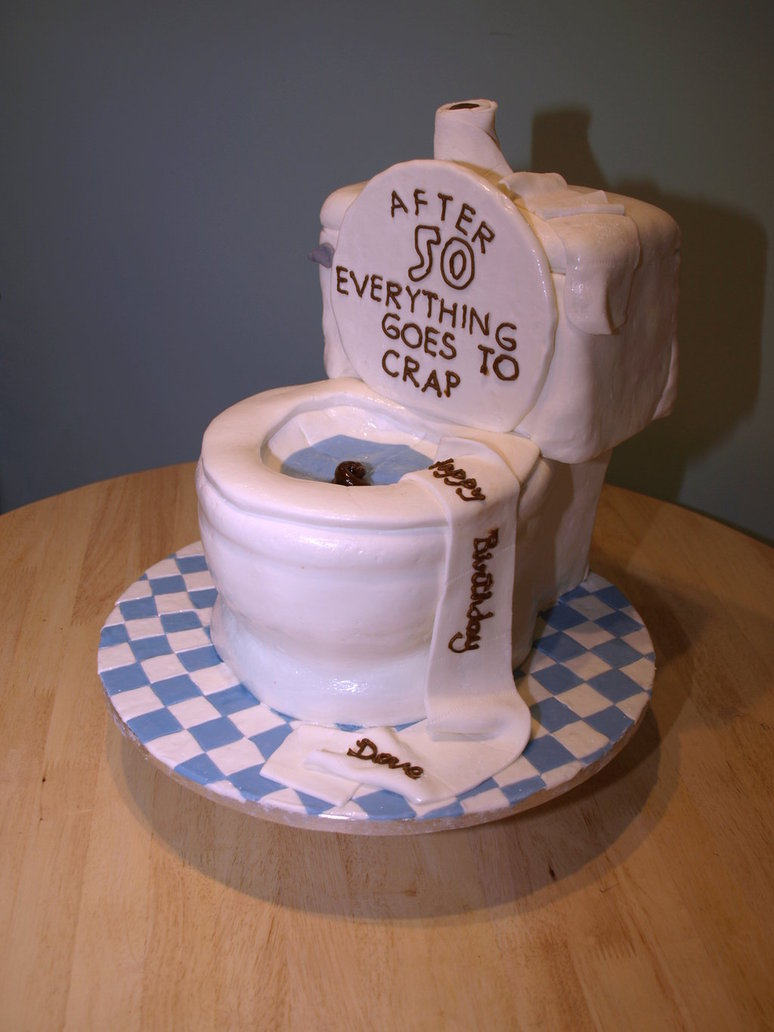 Toilet 50th Birthday Cake Idea