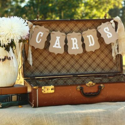 50th Birthday Cards Suitcase