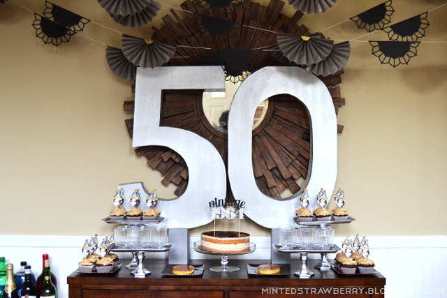 50th birthday party decorations turns up the theme in an inviting way