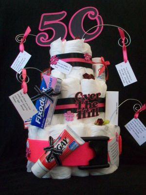 50th Birthday Gag Gifts Diaper Decoration