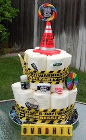 50th Birthday Gag Gifts Diaper Cake