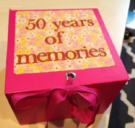 50th Birthday Gift Idea Memories