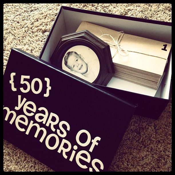 Memorable 50th Birthday Gift Idea