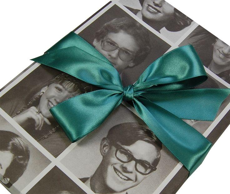 50th Birthday Gift Wrap Idea