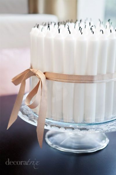 50th Birthday Party Decoration Candle Idea